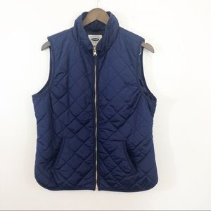 Old Navy light quilted blue vest front pockets